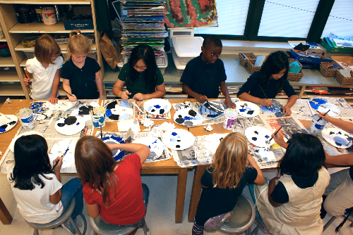 photo of students in art class